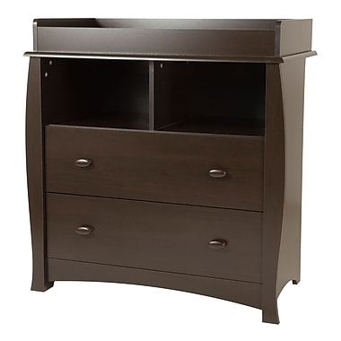 South Shore Beehive Changing Table with Removable Changing Station, Espresso, 35.5