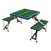 Picnic Time Picnic Table Sport; Green with Football