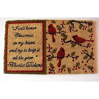 Geo Crafts Dickens Christmas Doormat