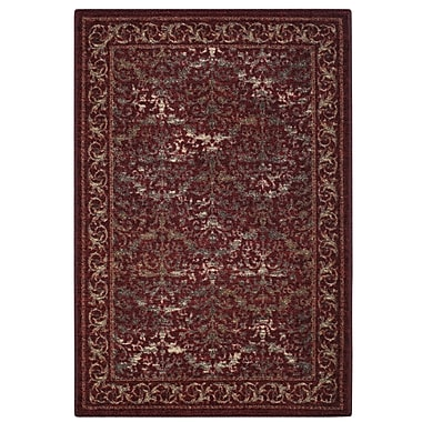 Brumlow Mills Gustavo Garnet Area Rug; Rectangle 2'6'' x 3'10''