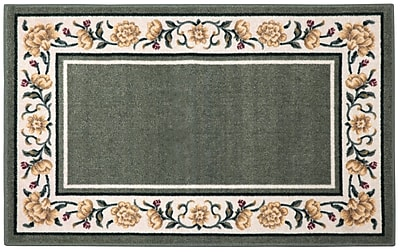 Brumlow Mills Salina Ivy/Cream Area Rug; Rectangle 3'3'' x 5'4''