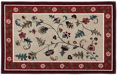 Brumlow Mills Farrah Rich Red/Beige Area Rug; Rectangle 2'6'' x 3'10''