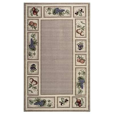 Brumlow Mills Eden's Bounty Praline Area Rug; Rectangle 1'7'' x 2'8''