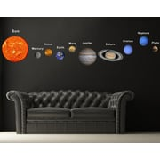Pop Decors Solar Planets Fabric Wall Decal