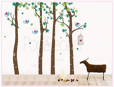 Pop Decors Maple Forest Wall Decal