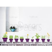 Pop Decors Different Flower Pots Wall Decal