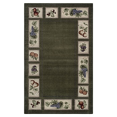 Brumlow Mills Eden's Bounty Olive/Green Area Rug; Rectangle 8' x 10'
