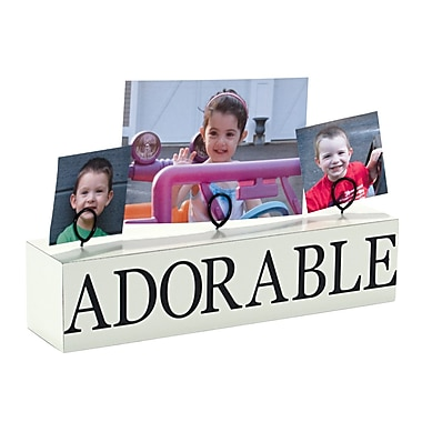 Malden 3 Photo Adorable Stand Picture Frame