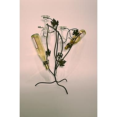 Metrotex Designs French Vinyard 3 Bottle Tabletop Wine Rack
