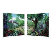 Artistic Bliss Antique Garden Painting Prints Set (Set of 2)