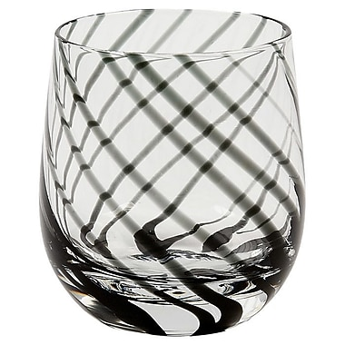 IMPULSE! Marbella Rocks 14 Oz. Old Fashioned Glass (Set of 4); Black