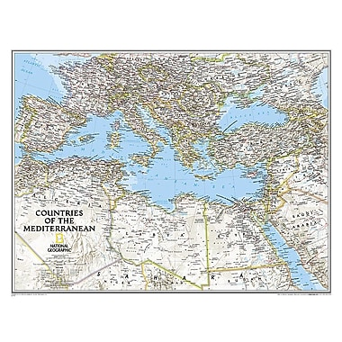 National Geographic Maps Countries of the Mediterranean Classic Map