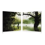 Artistic Bliss Foggy Pound 2 Piece Framed Photographic Print Set