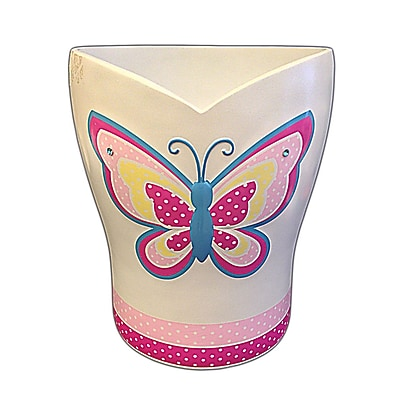 Homewear Linens Butterfly Dots Waste Basket