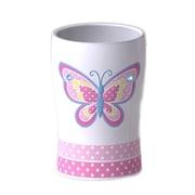 Homewear Linens Butterfly Dots Water Glass 6.4 oz. Plastic