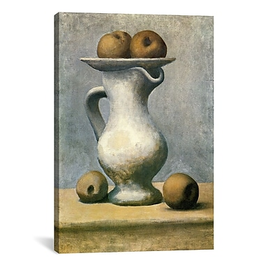 iCanvas Picasso Still Life w/A Pitcher And Apples Canvas Print Wall Art; 41'' H x 27'' W x 1.5'' D