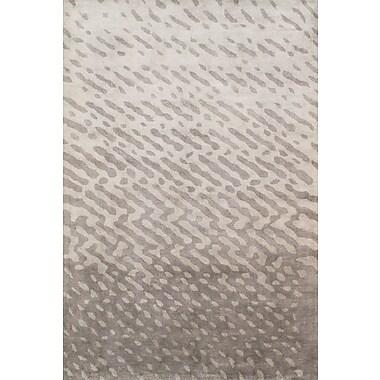 Pasargad Soho Silk Modern Silver Area Rug; 8' x 11'