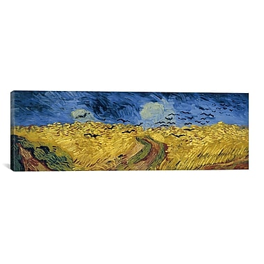 iCanvas 'Wheatfield w/ Crows' by Vincent Van Gogh Painting Print on Wrapped Canvas