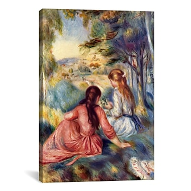 iCanvas 'In the Meadow' by Pierre-Auguste Renoir Painting Print on Canvas; 60'' H x 40'' W x 1.5'' D