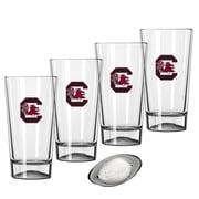 Kraftware Collegiate 16 Oz. Pint Sports Glasses (Set of 4); University of South Carolina
