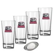 Kraftware Collegiate 16 Oz. Pint Sports Glasses (Set of 4); Alabama