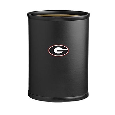 Kraftware Collegiate 3.25 Gallon Waste Basket; Georgia