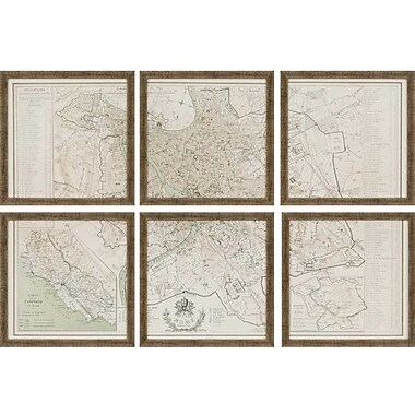 Paragon Rome by Benoist 6 Piece Framed Graphic Art Set