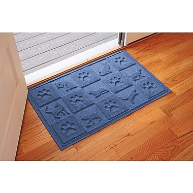 Bungalow Flooring Aqua Shield Cat in the Doormat; Navy