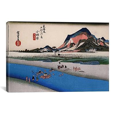 iCanvas 'Odawara (Takaido)' by Utagawa Hiroshige Painting Print on Canvas; 18'' H x 26'' W x 1.5'' D