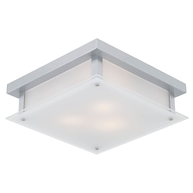 DVI Helios 3-Light Flush Mount; Chrome