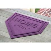 Bungalow Flooring Aqua Shield Home Plate Doormat; Purple