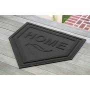 Bungalow Flooring Aqua Shield Home Plate Doormat; Charcoal