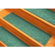 Bungalow Flooring Aqua Shield Aquamarine Fall Day Stair Tread (Set of 4)