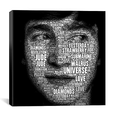 iCanvas The Fab Four Songs - John by Maximilian San Graphic Art on Wrapped Canvas