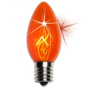 Wintergreen Lighting C9 Twinkle Transparent Bulb; Amber