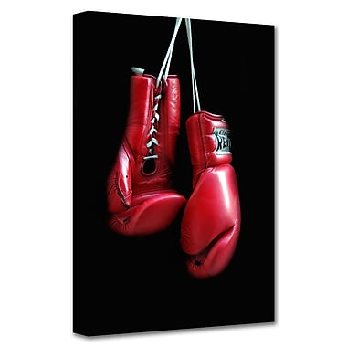 ArtWall 'Red Gloves' by Dan Holm Photographic Print on Wrapped Canvas; 24'' H x 16'' W
