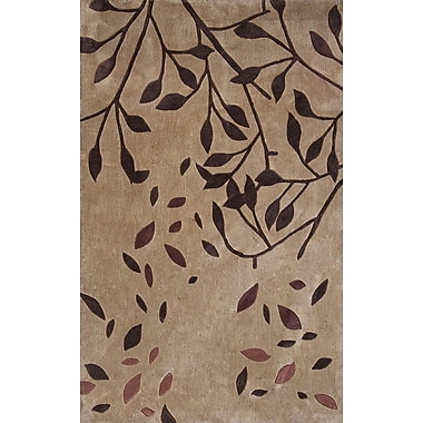 Dynamic Rugs Symphony Falling Beige/Brown Leaves Area Rug; 6'7'' x 9'6''