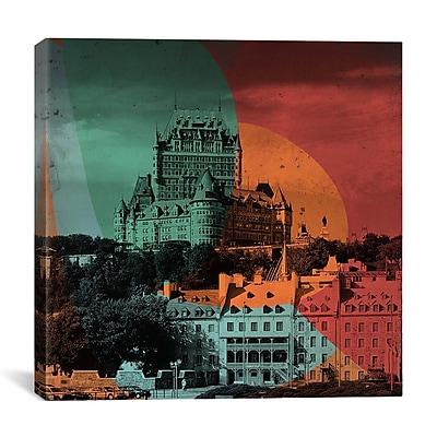 iCanvas Canada Quebec City, Frontenac Hotel #3 Graphic Art on Canvas; 26'' H x 26'' W x 0.75'' D