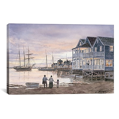 iCanvas 'Nantucket Sunset' by Stanton Manolakas Painting Print on Canvas; 26'' H x 40'' W x 1.5'' D