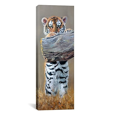 iCanvas Panoramic ''Tiger Cub Standing up'' by Pip McGarry Photographic Print on Canvas