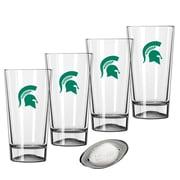 Kraftware Collegiate 16 Oz. Pint Sports Glasses (Set of 4); Michigan State