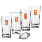 Kraftware Collegiate 16 Oz. Pint Sports Glasses (Set of 4); Syracuse
