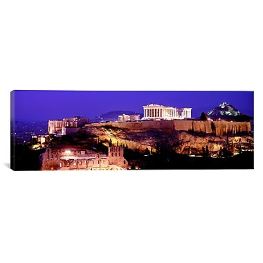 iCanvas Panoramic Acropolis, Athens, Greece Photographic Print on Canvas; 12'' H x 36'' W x 1.5'' D