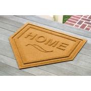 Bungalow Flooring Aqua Shield Home Plate Doormat; Yellow