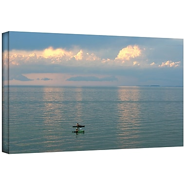 ArtWall ''Calm Kayaks'' by Antonio Raggio Photographic Print on Canvas; 12'' H x 18'' W