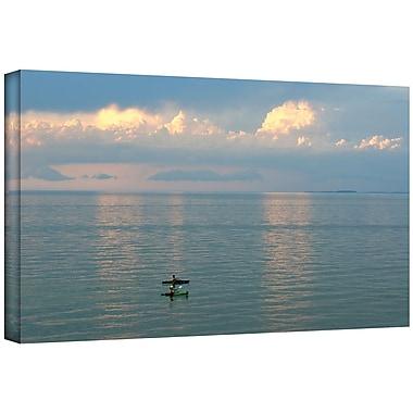 ArtWall ''Calm Kayaks'' by Antonio Raggio Photographic Print on Canvas; 26'' H x 48'' W