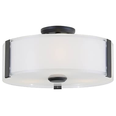 DVI Zurich 3-Light Flush Mount; Graphite