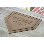 Bungalow Flooring Aqua Shield Home Plate Doormat; Medium Brown