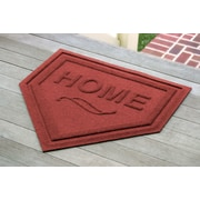 Bungalow Flooring Aqua Shield Home Plate Doormat; Red