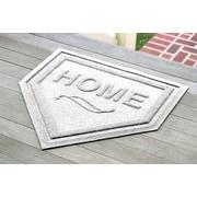 Bungalow Flooring Aqua Shield Home Plate Doormat; White